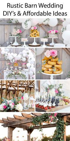 Rustic Barn Wedding Ideas - Tons of great DIY's and affordable budget friendly outdoor country weddig ideas. Barn Wedding