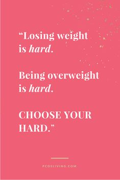 You determine what you can live with and what is your version of HARD. // @PCOSLiving // Motivational Quotes // Weight Loss Quotes // Mindset Quotes //