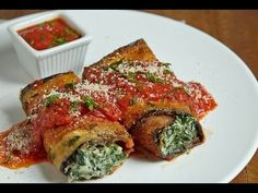 The Best Eggplant Rollups #philly4passover #ad