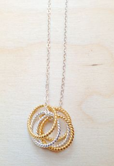 Silver and Gold necklace by FredericaDixon on Etsy, £14.99