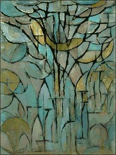 Tree painting by Peit Mondrian