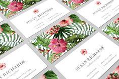 Tropical Business Card Design | Modern Branding