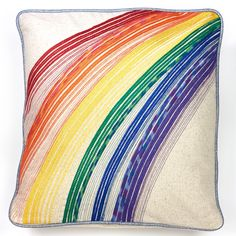 """Become completely comfortable with threading and stitching the Cover Stitch with a Serger. This pattern allows you to learn to use regular and decorative serger threads on your Baby Lock Ovation to make a fun 16"""" x 16"""" pillow project!  Skill Level: Intermediate. Created by: Stephanie Struckmann, Baby Lock Video Coordinator."""