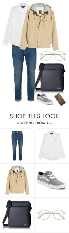 """Bez tytułu #4629"" by olgon ❤ liked on Polyvore featuring Topman, Polo Ralph Lauren, Vans, Lacoste, EyeBuyDirect.com, Native Union, men's fashion and menswear"