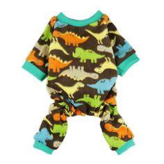 FurBaby Adorable Dinosaur Velvet Dog Pajamas for Pet Cat Clothes Coat Soft Warm Pjs, X-small - http://www.thepuppy.org/furbaby-adorable-dinosaur-velvet-dog-pajamas-for-pet-cat-clothes-coat-soft-warm-pjs-x-small/