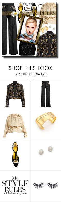 Guideline by nusongbird on Polyvore featuring J.W. Anderson, Versace, Y/Project, Charlotte Olympia, TomTom, Shay and Emma Chapman