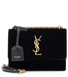 8ee792f07932 Saint Laurent - Small Sunset velvet shoulder bag - Saint Laurent updates  its iconic Small Sunset