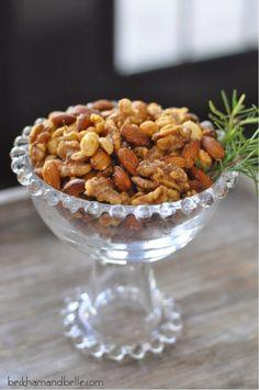 Beckham + Belle: Sweet Rosemary-Garlic Cocktail Nuts