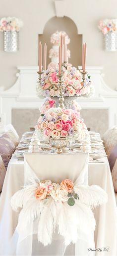 Romantic Wedding Centerpieces with Glamour - via pinterest