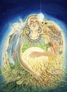 Gaia by Josephine Wall, Art - Goddesses, Muses Gaia Goddess, Earth Goddess, Norse Goddess, Josephine Wall, Taro Do Amor, Birth Art, Sacred Feminine, Norse Mythology, Roman Mythology
