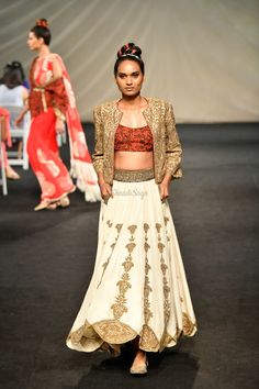 Lakme Fashion Week Our Favorite From The Runway! Yellow Lehenga, Lakme Fashion Week, Lace Skirt, Runway, Sari, Vogue, Bridal, Skirts, Summer