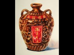 Foundation Course in Watercolor 13 - Wine-Jar  基礎水彩示範 - 酒甕 - YouTube