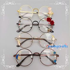 disney characters - Online Shop Hand made the original lolita soft sister sweet Japanese harajuku girls round box cherry blossom put glasses cos who gay men Aliexpress Mobile Cute Glasses, Girls With Glasses, Glasses Frames, Girl Glasses, Glasses Outfit, Hipster Glasses, Kawaii Fashion, Lolita Fashion, Cute Fashion
