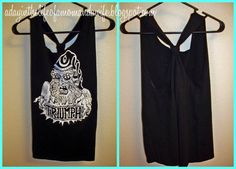 DIY T-shirt : DIY Clothes Refashion:  DIY No sew T-shirt to tank