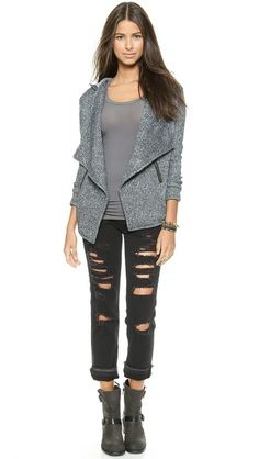 BB Dakota Milly Herringbone Fleece Jacket