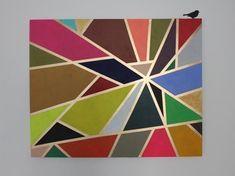 Tableau abstrait losanges art optique tableau pinterest art - Faire son tableau soi meme ...