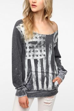 this sweater. i DIE.     Sparkle & Fade Washed Americana Sweatshirt