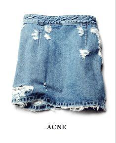 Acne - denim skirt