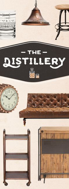 Enjoy the industrial style of distilleries and bring their unique look into your home for a delicious design aesthetic. Sign up and shop now at dotandbo.com!
