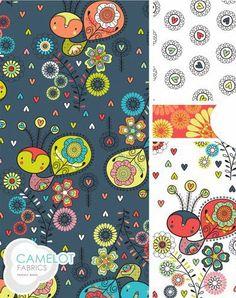 Camelot Fabrics by the Cinnamon Joe Studio. Cinnamon designer Andrea Turk