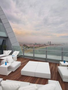 Book your stay at W Barcelona. Our Barcelona trendy hotel offers contemporary accommodations & lively experiences. Rooftop Design, Rooftop Lounge, Rooftop Bar, Places Around The World, The Places Youll Go, Places To Go, Around The Worlds, W Hotel Barcelona, Barcelona Spain