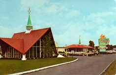Googie Architecture / Googie Style:  Howard Johnson's Inn