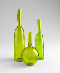 """Cyan Design unique decorative objects and accessories for vibrant interior design.   06460  Lg Tall Drink Of Water Vs  19.5""""(h) x 5""""(dia)  Green"""