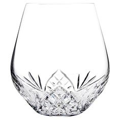 Adding classic elegance to your tablescape or curio cabinet, this mouth-blown crystal stemless wine glass showcases hand-etched details for elegant appeal.  ...