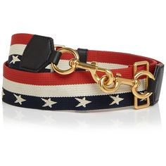 Marc Jacobs Stars and Stripes Handbag Strap ($91) ❤ liked on Polyvore featuring bags, handbags, shoulder bags, shoulder strap bags, striped handbag, striped shoulder bag, man bag and striped purse