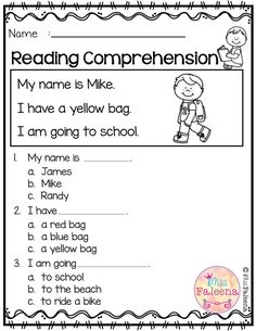 Free Reading Comprehension is suitable for kindergartners or beginners. There are 15 color pages and 15 black-and-white pages for reading worksheets. Each page contains 3 to 4 sentences of passage, a related image and 3 multiple-choice. First Grade Reading Comprehension, Reading Comprehension Worksheets, Reading Fluency, Reading Passages, Reading Skills, Comprehension Questions, Numbers Kindergarten, Kindergarten Reading, Reading Activities