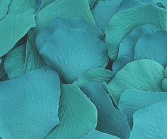 100 Silk Rose Petals In Ocean Blue, 31% off   Recycled Bride