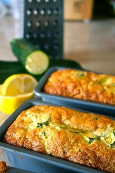 Lemon Zucchini Bread// another pinner said: Just made this added some more lemon zest and juice. Added chia seed, flax, and let me tell you...it came out amazing.