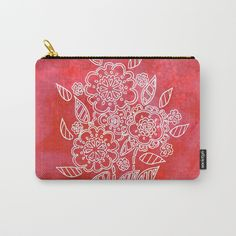 Pink flowers Carry-All Pouch by seelas Organize Your Life, Pouches, Handicraft, Art Supplies, Pink Flowers, Carry On, Ipad, About Me Blog, Exterior