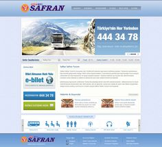 Safran Turizm website design