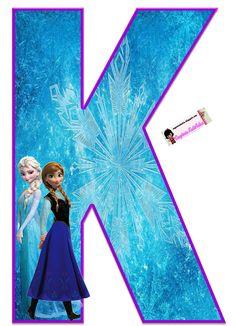 Frozen: Free Elsa and Ana Alphabet. Frozen: Bello Alfabeto Gratis de Elsa y Ana. Frozen Birthday Party, Frozen Tea Party, Sofia The First Birthday Party, Frozen Theme, Frozen 1, Frozen Font, Diy Crafts For 5 Year Olds, Elsa, Disney Alphabet