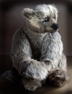 This is Walter, a one of a kind bear by Mary Lou Foley  baysidebears.com These bears are no longer being made nor available.