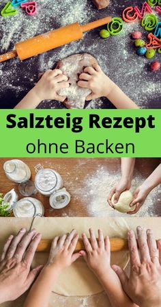 Make salt dough recipe yourself without baking Fun Games For Kids, Diy For Kids, The Artist's Way, Easter Fabric, Create And Craft, Salt Dough, Handicraft, Fabric Crafts, Earthy