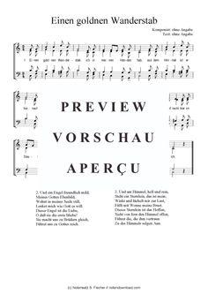 Einen goldnen Wanderstab (Gemischter Chor) >>> KLICK auf die Noten um Reinzuhören <<<