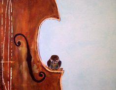 Art Print of Bird and Violin, via Etsy.