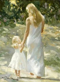 A lovely Mother and Daughter painting. Painting People, Woman Painting, Classic Paintings, Beautiful Paintings, Painted Ladies, Mothers Love, Mother And Child, Female Art, Art For Kids