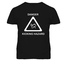 Taekwondo Funny Danger Kicking Hazard T Shirt on Etsy, $22.80 CAD