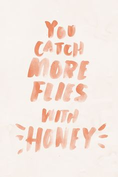 """You catch more flies with honey."" Illustrated by Becky Murphy 