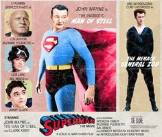 Superman: The Movie - 'What if...' movie posters by Peter Stults