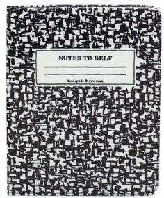 Kate Spade Composition Notebook iPad Folio $85