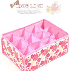 12 Grid Storage Box Bag Non-Woven Fabric Folding Case For Bra Underwear Socks underwear organizer