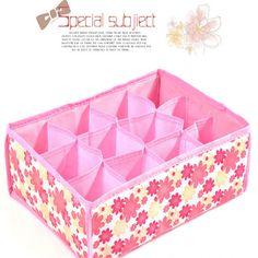 12 Grid Storage Box Bag Non-Woven Fabric Folding Case For Bra Underwear Socks underwear organizer