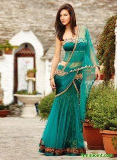 beautiful Indian sari dress- funnpoint.