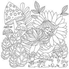 273 Best A Gnome Fairy Mushroom Houses Coloring Page Images In