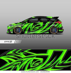 Find Racing Car Livery Design Graphic Abstract stock images in HD and millions of other royalty-free stock photos, illustrations and vectors in the Shutterstock collection. Thousands of new, high-quality pictures added every day. Creative Instagram Names, Nitro Buggy, Chevy, Car Paint Jobs, Racing Car Design, Ford Fiesta St, Mitsubishi Eclipse, Car Painting, Car Wrap