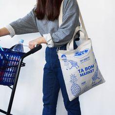 """87-mm: """"Oohlala tabom market blue tote shoulder bag """""""